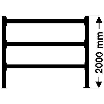 Weitspannregal, mit verzinkten Stahlböden, Höhe 2000 mm - Tiefe 600 mm, Traversenlänge 1800 mm