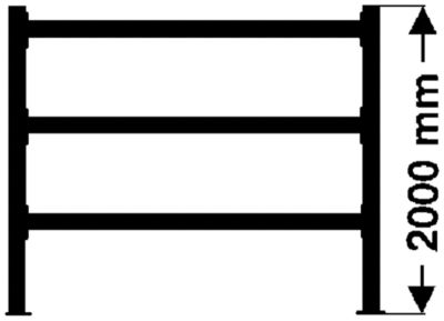 Weitspannregal, mit Spanplattenböden, Höhe 2000 mm - Tiefe 600 mm, Traversenlänge 2700 mm