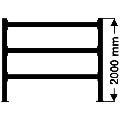 Weitspannregal, mit Spanplattenböden, Höhe 2000 mm - Tiefe 1100 mm, Traversenlänge 1350 mm