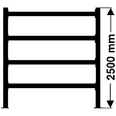 Weitspannregal, mit Spanplattenböden, Höhe 2500 mm - Tiefe 600 mm, Traversenlänge 1800 mm