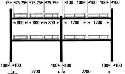 Palettenregal-Auflagetraversen - Traversenlänge 2700 mm, 1 Paar