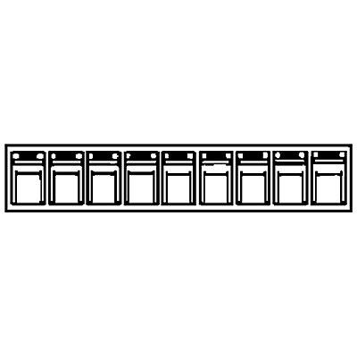 Système de bacs pivotants - casier h x l x p 77 x 600 x 62 mm