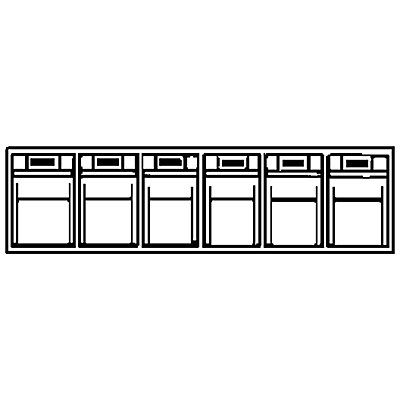Système de bacs pivotants - casier h x l x p 113 x 600 x 91 mm