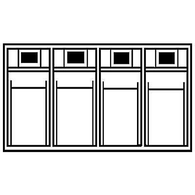 Système de bacs pivotants - casier h x l x p 207 x 600 x 168 mm