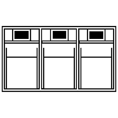 Klappkasten-System - Gehäuse-HxBxT 240 x 600 x 197 mm