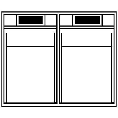 Système de bacs pivotants - casier h x l x p 353 x 600 x 299 mm