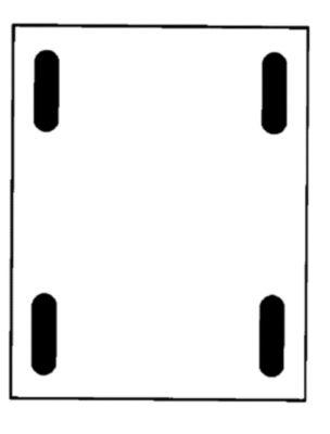 Großbehälter aus Polyethylen, fahrbar - Inhalt 625 l