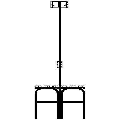 Garderobenbank mit Hakenleisten - beidseitig, 6 Haken, 1015 mm
