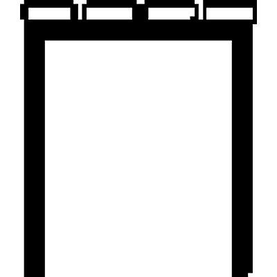 Wolf Garderobenbank ohne Lehne - PVC-Leisten, grau