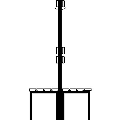 Wolf Garderobenbank, zweiseitig - Länge 1500 mm, Buchenleisten - 2 x 6 Doppelhaken