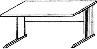 VERA Schreibtisch mit C-Fuß-Gestell - 1600 mm breit