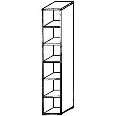VERA Büroregal - 5 Fachböden, 400 mm breit