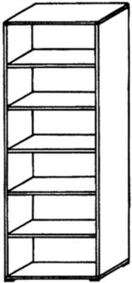 VERA Büroregal - 5 Fachböden, 800 mm breit