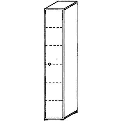 VERA Büroschrank - 5 Fachböden, 400 mm breit