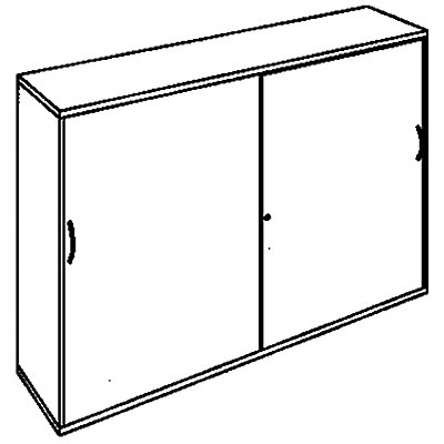 office akktiv CARINA Schiebetürenschrank - HxBxT 1.150 x 1.600 x 440 mm