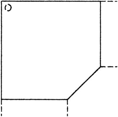 VIOLA Verkettung - Eckplatte 1200 x 1200 mm, Fuß höhenverstellbar
