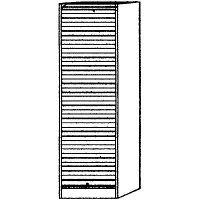 Hammerbacher VIOLA Rollladenschrank - Breite 500 mm, 4 Fachböden, davon 1 fest