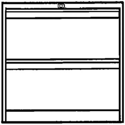 Bisley Hängeregistraturschrank - 2 Hängerahmen-Schübe für je 2 Bahnen DIN A4 quer