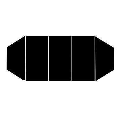Rechtecktisch, Rundrohr verchromt - 1200 x 800 mm