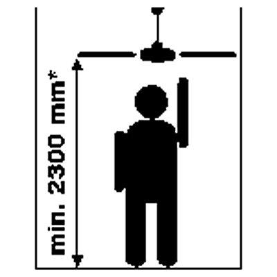 Deckenventilator - Rotorblatt Ø 1220 mm - weiß