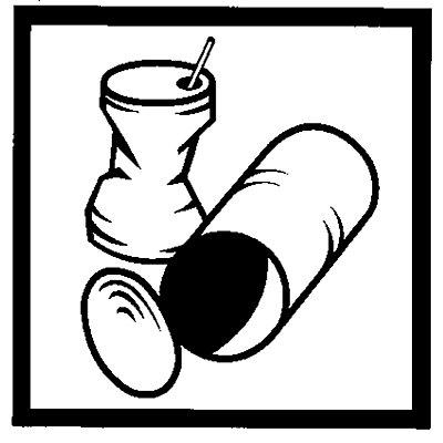 Aufklebersatz zur Deckelkennzeichnung - Inhalt 7 Stück - schwarz / weiß