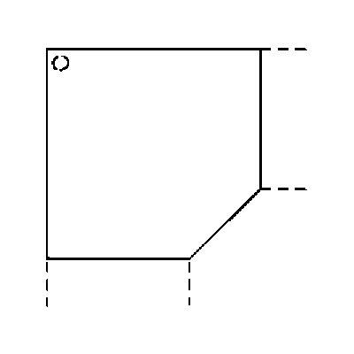 Hammerbacher FINO Verkettung - Platte mit Stützfuß, fünfeckig