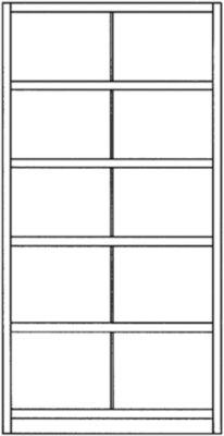 Steckregal-System, Regalhöhe 1990 mm - 10 Fächer, BxT 1000 x 400 mm