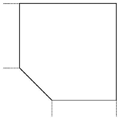Hammerbacher BIANCA Verkettung für Schreibtische - Trapez-Eckplatte mit Stützfuß - lichtgrau