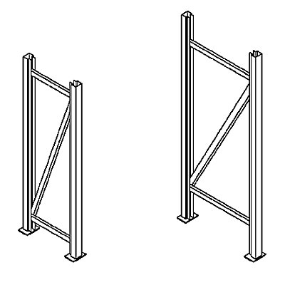 Schwerlastregal-Stützrahmen - Rahmenhöhe 2500 mm
