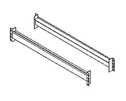 Traverses supports pour rayonnages pour charges lourdes, la paire - longerons pour plateaux en aggloméré, longueur 1350 mm