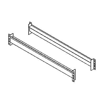 Schwerlastregal-Auflagetraversen, Paar - Kastentraversen zur Einlage von Spanplatten, Länge 1350 mm