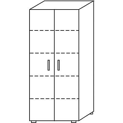 Wellemöbel BASIC-II Büro-Aktenschrank - Höhe 1810 mm, Breite 800 mm