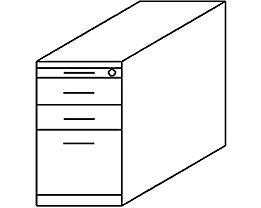 office akktiv NICOLA Caisson fixe - 2 tiroirs, 1 tiroir pour dossiers suspendus, 1 tirette-plumier