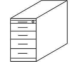 office akktiv NICOLA Caisson fixe - 4 tiroirs, 1 tirette-plumier