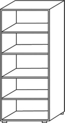 BASIC-II Büroregal - Höhe 1810 mm, Breite 800 mm