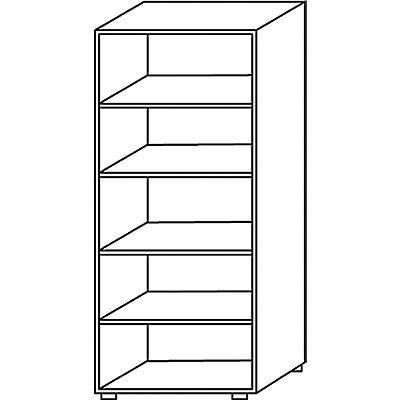 Wellemöbel BASIC-II Büroregal - Höhe 1810 mm, Breite 800 mm