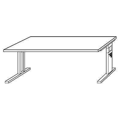 FINO Schreibtisch mit C-Fußgestell - höhenverstellbar 680 – 760 mm, BxT 1600 x 800 mm