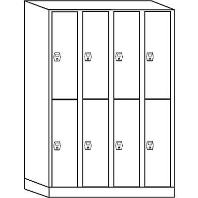 Wolf Schließfachschrank, Fachhöhe 820 mm - 8 Fächer, Breite 1200 mm
