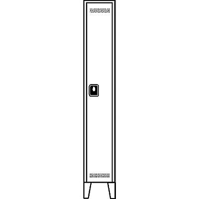 Wolf Garderobenschrank, Fachhöhe 1700 mm - HxBxT 1850 x 300 x 500 mm, Abteilbreite 300 mm