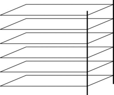 Lager-Steckregal, Fachböden verzinkt - Regalhöhe 2000 mm, 5 Fachböden