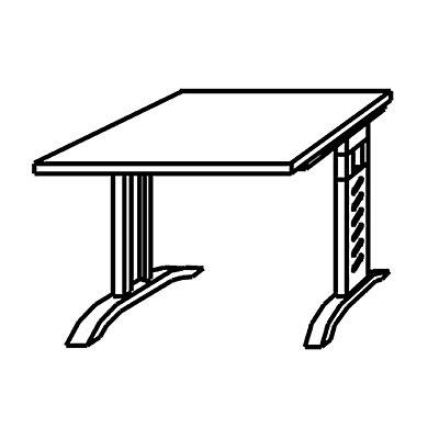 HAMMERBACHER ANNY Schreibtisch – mit C-Fuß-Gestell und 800 mm Breite