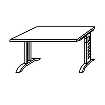 HAMMERBACHER Schreibtisch – 1200 mm Breite und C-Fuß-Gestell