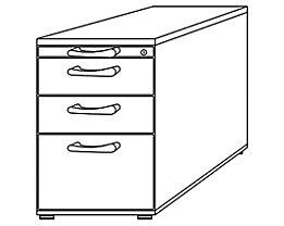 office akktiv ANNY Standcontainer - 1 Utensilienschub, 2 Materialschübe, 1 Registratur - weiß