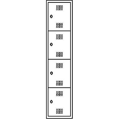 Wolf Stahlspind, zerlegt - 4 Abteile, Höhe 410 mm, Breite 400 mm