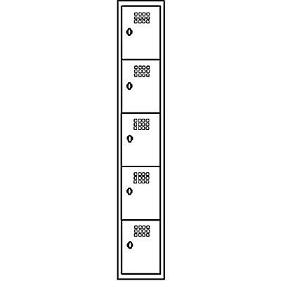 Wolf Stahlspind, zerlegt - 5 Abteile, Höhe 320 mm, Breite 300 mm