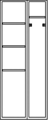 Wolf – Stahlspind, zerlegt - 6 Abteile, Gesamtbreite 700 mm