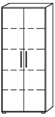 MULTI Aktenschrank - HxBxT 1880 x 800 x 330 mm