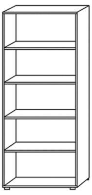 NICOLA Büroregal - 4 Fachböden, HxBxT 1880 x 800 x 330