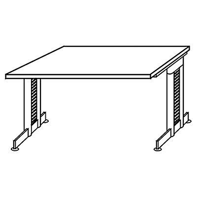 HAMMERBACHER NICOLA höhenverstellbarer Schreibtisch - C-Fuß-Gestell