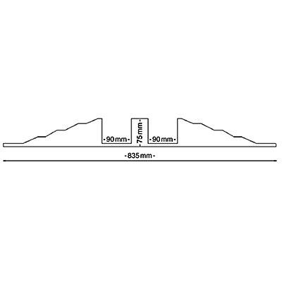 dancop Schlauch- und Kabelbrücke - für Kabel bis 75 mm Ø, schwarz - LxBxH 300 x 835 x 90 mm